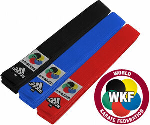 Adidas WKF Approved Belts
